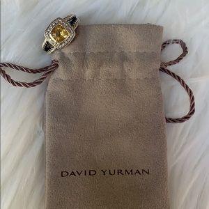 David Yurman Petite Albion citrine & diamond ring